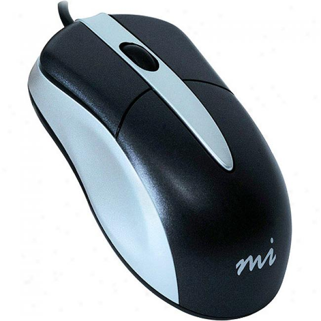 Micro Innovations Mid-size 3-button Optical Mouse With Scroll Wheel
