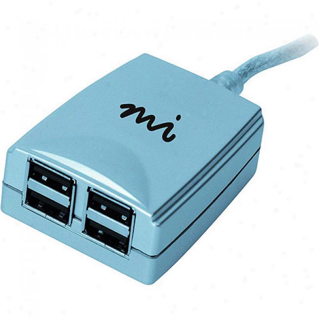 Micro Innovations Mobile 4-port Usb Hub - Standard Speed