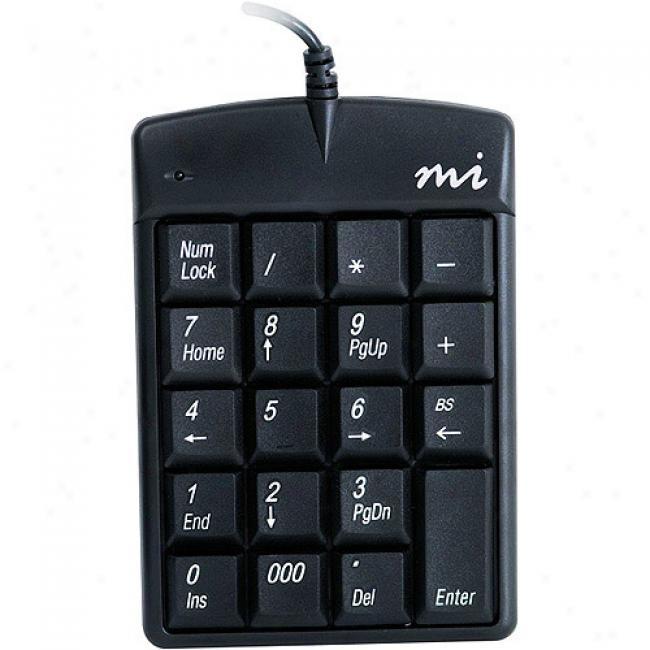 Micro Innovations Numeric Keypad Plus Keypad, Kp25b