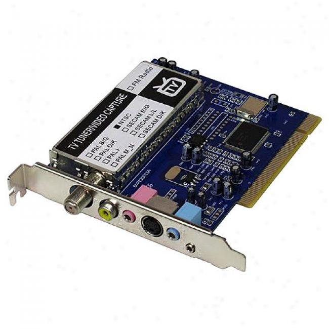 Micropac Tv Tuner And Video Capture Pci Card With Remote