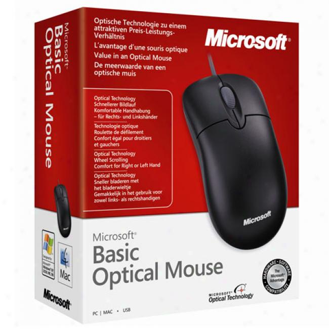 Microsoft Optical Black Scrolling Mouse