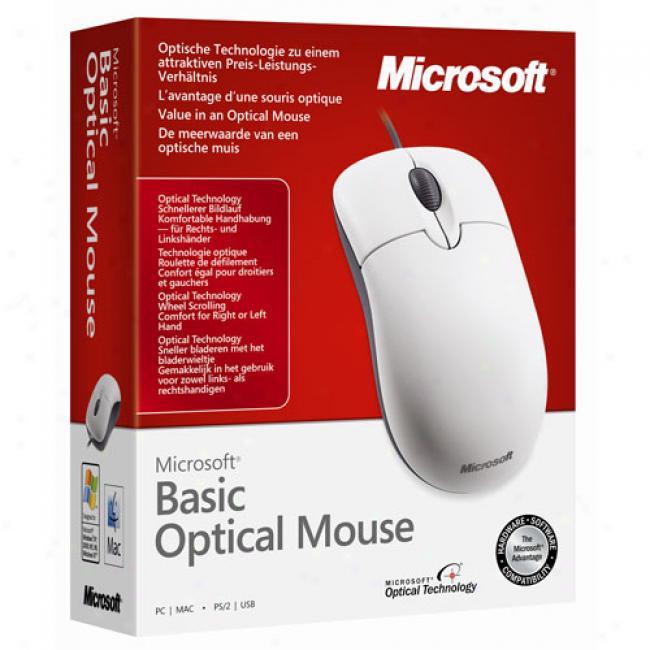 Microsoft Optical White Scrolling Mouse