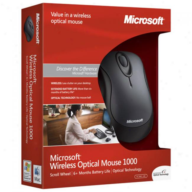 Microsoft Standard Wireless Black Optical Mouse