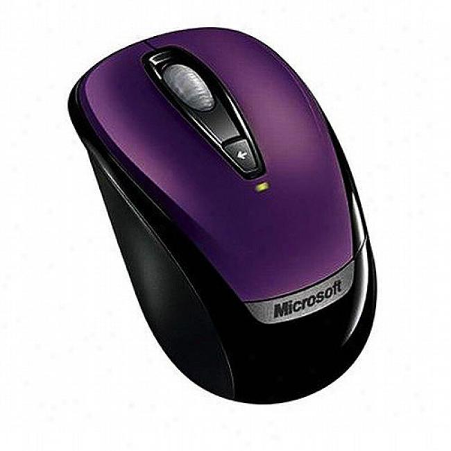 Microsoft Wireless 3000 Mobile Mouse - Purple