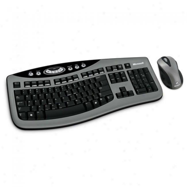 Microsoft Wireless Keyboard & Laser Mousedesktop 3000, Silver