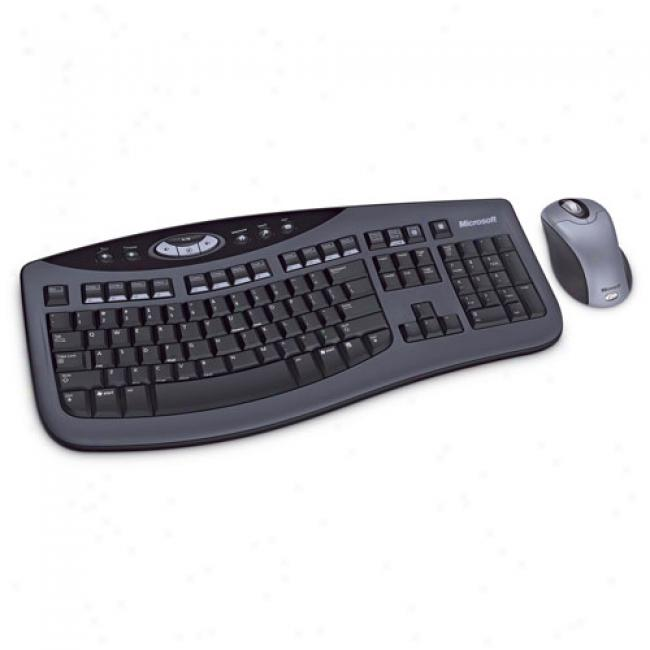 Microsoft Wireless Keyboard & Mouse Optical Desktop 3000 -dark Grey