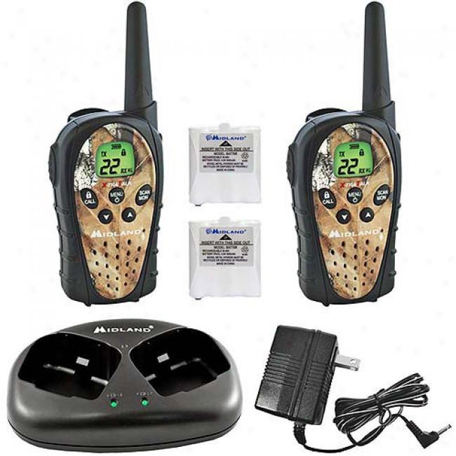 Midlanf 2-way Water-resistant Radios W/ 20m-ile Range, Batteries & Charger, Suit