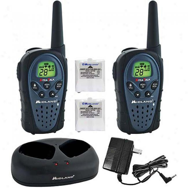 Midland 2-way Water-resistant Radios W/ 24-mile Range, Batteries & Charger, Suit