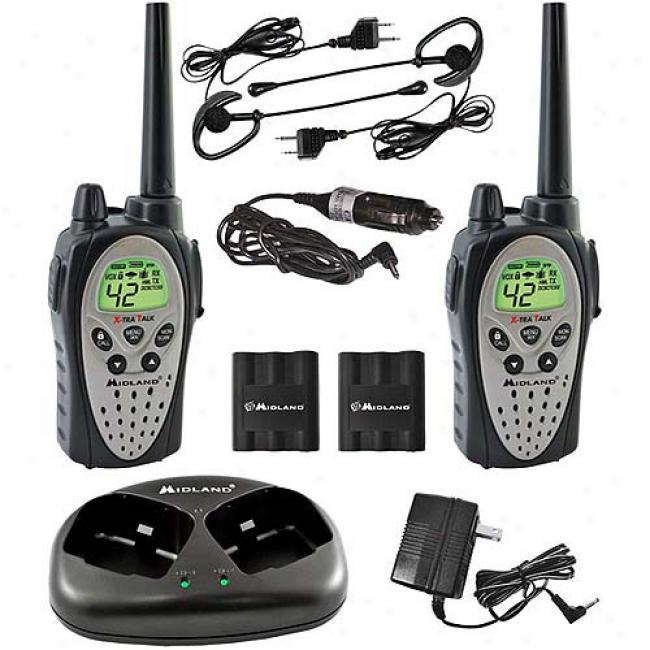 Midland 2-way Waterproof Radios W/ 30-mile Range & Headsets, Pair