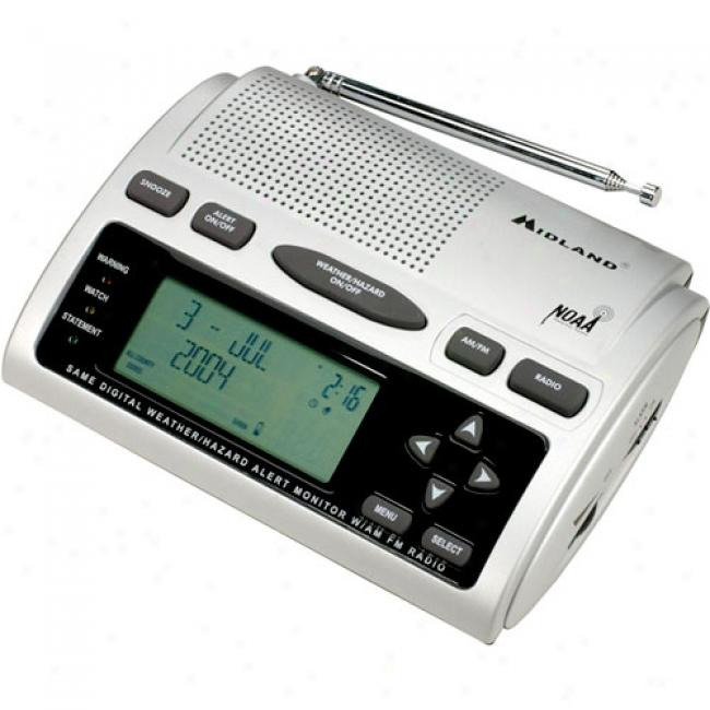 Midland Am/fm Alarm Clock Radio In the opinion of Weather/all Hazard Alerts