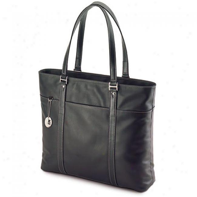 Mobile Edge Full-grain Leather Women's Tech Bag (black)