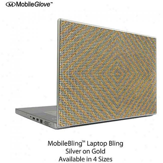 Mobilebilng Notebook Cover Gold And Silver Checker Board, 15.4