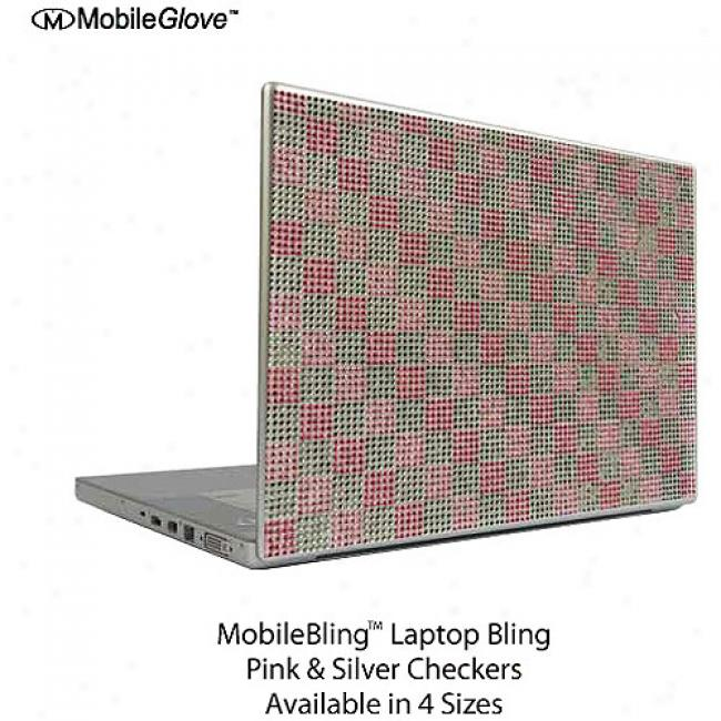 Mobilebling Notebook Cover Pink And Silver Checker Board, 12.1