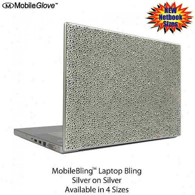 Mobilebling Notebook Cover Silver On Silver, 15.4