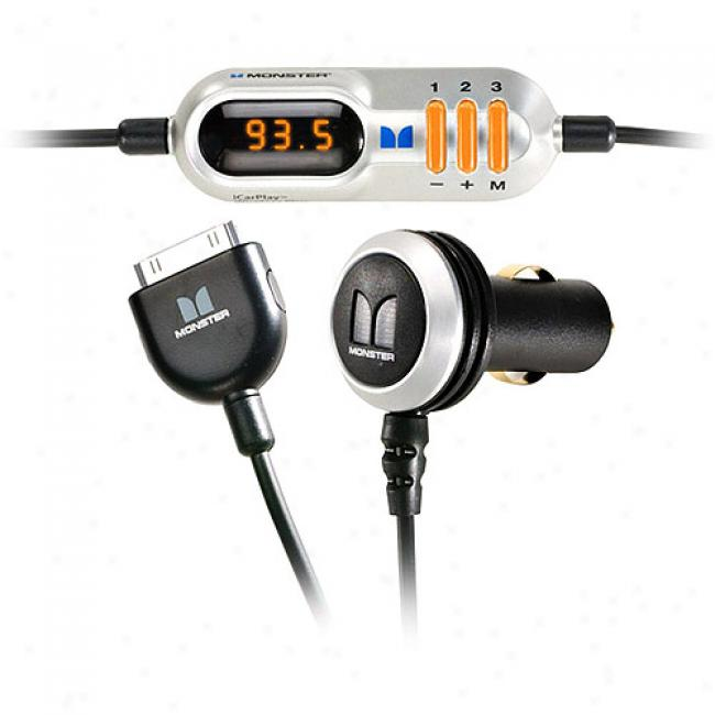 Monster Icarplay Wireless Plus Fm Transmitter/charger For Ipod