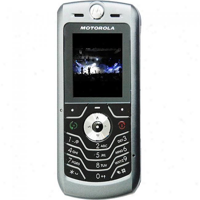 Motorola L6 Silver Unlocked Gsm Cell Phon