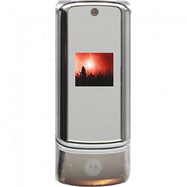 Motorola Motokrzr K1 Unlocked Gsm Cell Phone, Silver