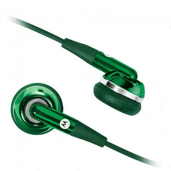 Motorola Thrill Me Green Eh25 Stereo Headset