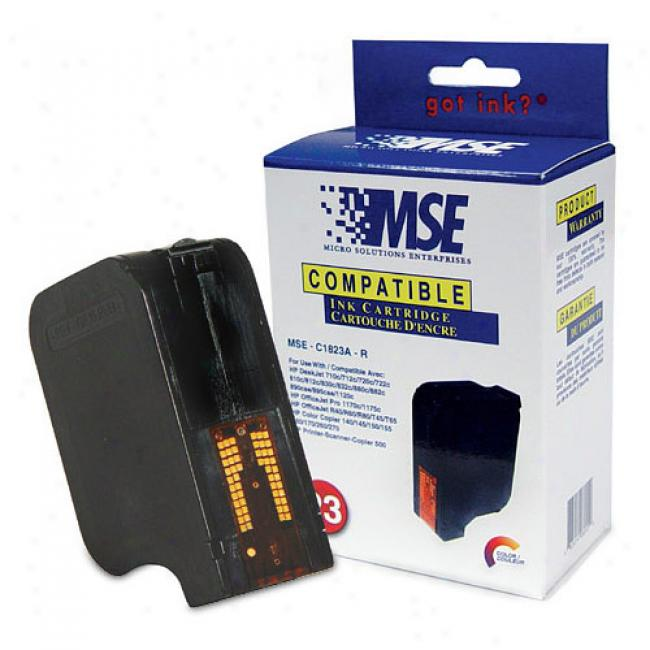 Mse Compatible Color Ink Cartridge, Hp C1823an