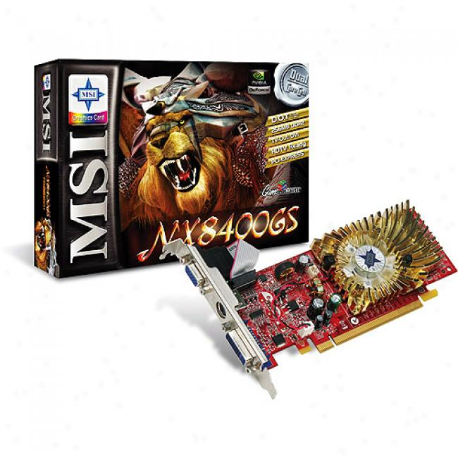 Msi 256mb Pci-e Nvidiabx8400gs Graphics Card