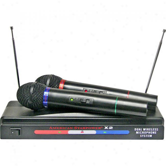 Nady American Starpower X2 Dual Vhf Wireless Microphone System
