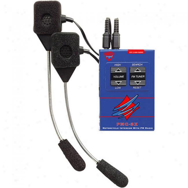 Nad6 Pmc-3x Motorcycle Intercom System With Fm Radio