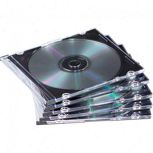 Neato Clear Slim Cd/dvd Jewel Cases, 100-pack