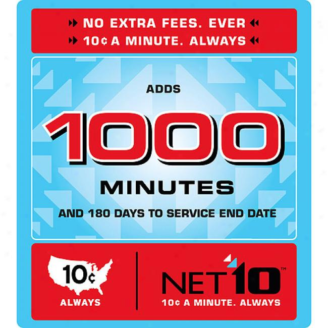 Net10 1,000 Minute Airtime Card