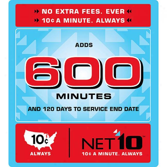 Net10 600 Minute Airtime Card