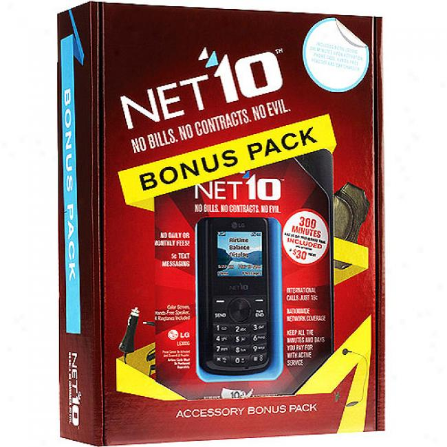 Net10 Lg300 Bundled W/ Bonus Phone Case, Hands Free Headset, And Car Charger