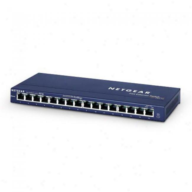 Netgear 16-port 10baset/100absetx Switch