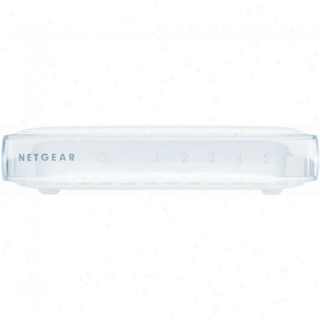 Netgear Fs605 5-port 10/100mbps Ethernet Switch