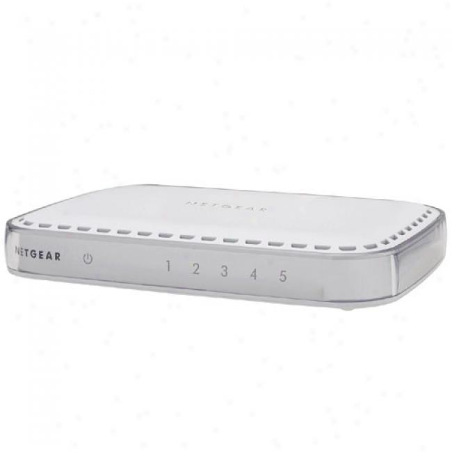 Netgear Gs605 5-port 10/100/1000mbps Gigabit Ethernet Switch
