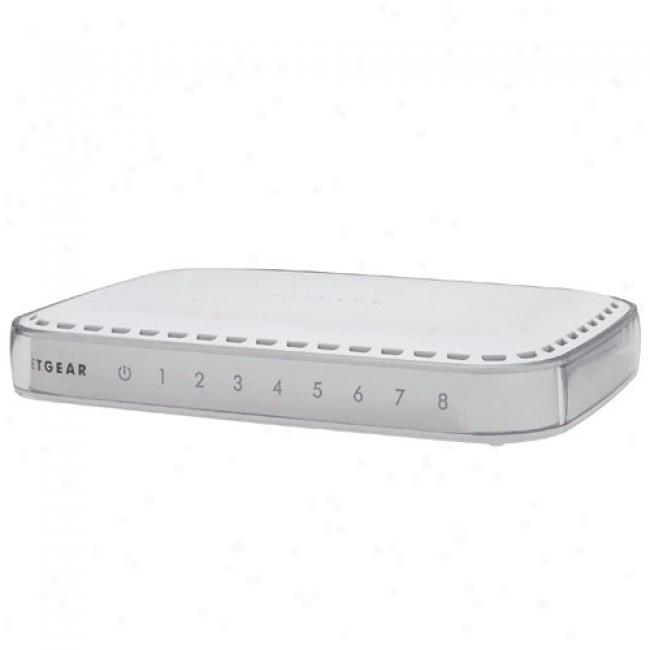 Netgear Gs608 8-port 10/100/1000mbps Gigabi Ethernet Switch
