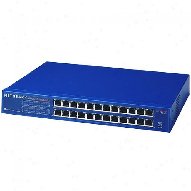 Netgear Jfs-524 24-port 10/100mbps Rackmountable Switch