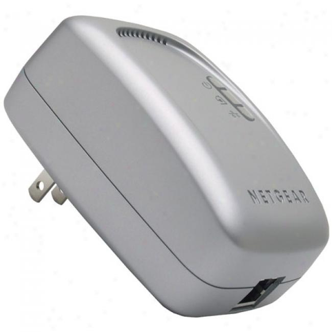 Netgear Wall-plugged 14mbps Eop Ethernet Over Power Extender Kit