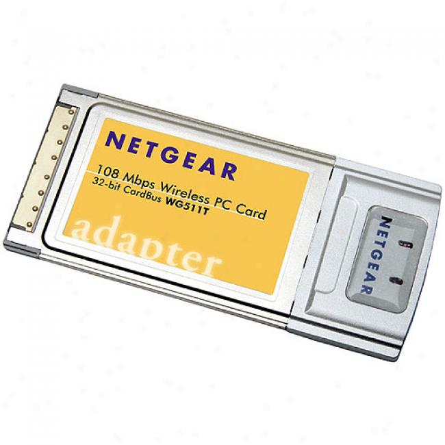 Netgear Wg511t Wirelss-g 108mbps Pc-card Notebook Adapter