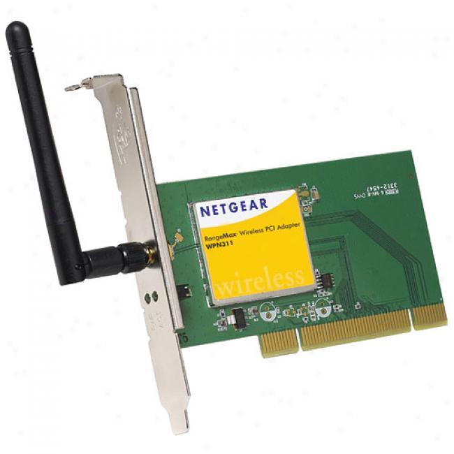 Netgear Wpn-311 Rangemax Wireless-g Mimo Pci Desktop Adapter