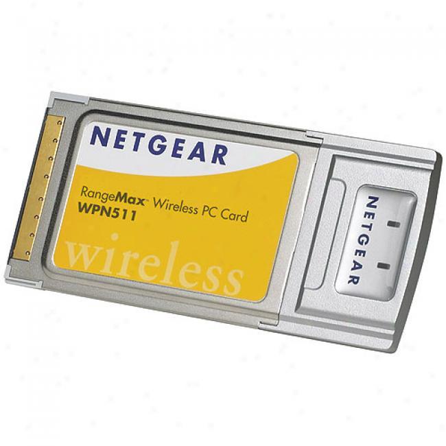Netgear Wpn511 Rangemax Wireless-g Mimo Pc-card Notebook Adapter