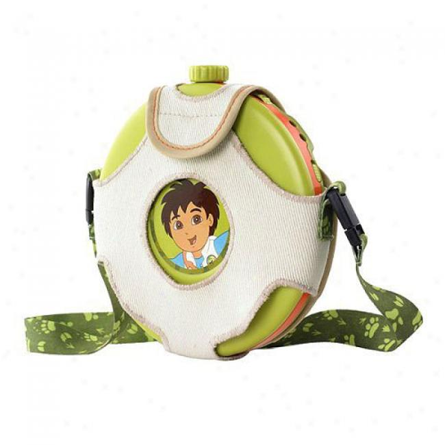 Nickelodeon Diego Personal Cd Player W/ Canteen-style Case
