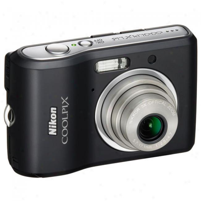 Nikon Coolpix L16 Black ~ 7 Mp Digital Camera, 3x Optical Zoom, 2.8
