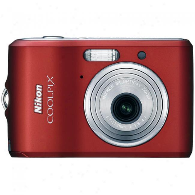 Nikon Coolpix L18 Red ~ 8.0 Mp Digital Camera With 3x Opical Zoom Lens