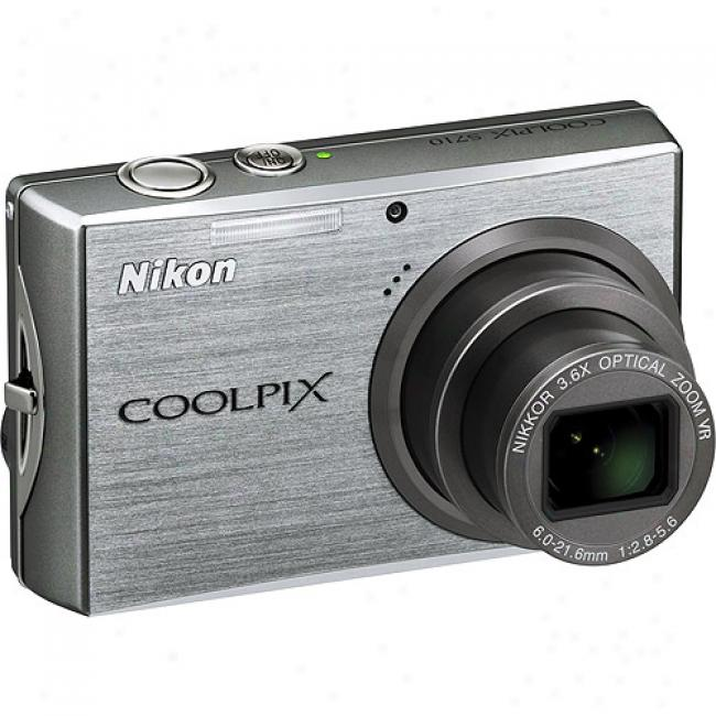 Nikon Coolpix S710 Silver 14.5mp Digital Camera W/ 3.6x Optical Zoom