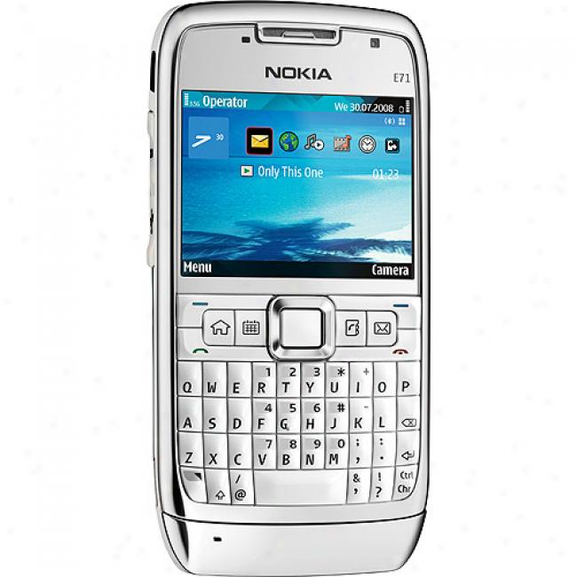 Nokia E7 1Smart Phone, White (unlocked Gsm)