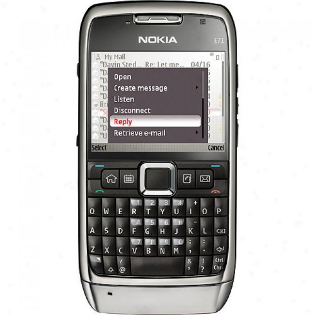 Nokia E71 Smartphone (unlocked), Gray