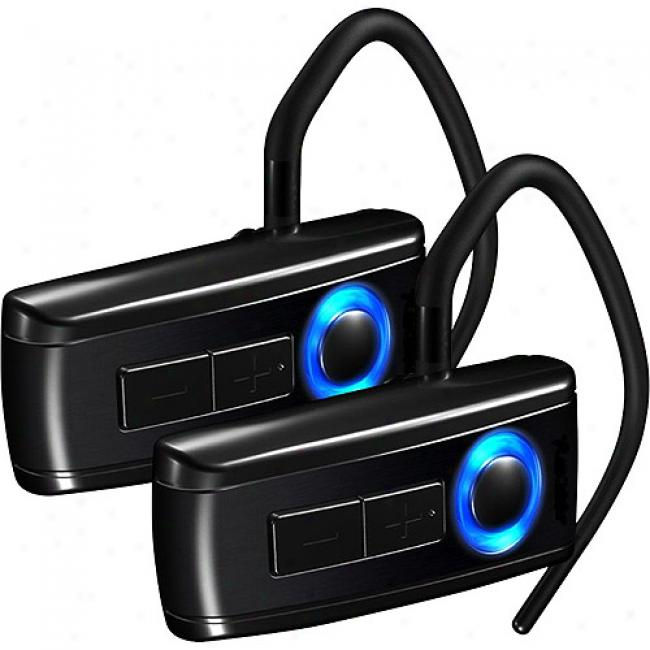 Nolan Mini Bluetooth Headsets, 2-pack