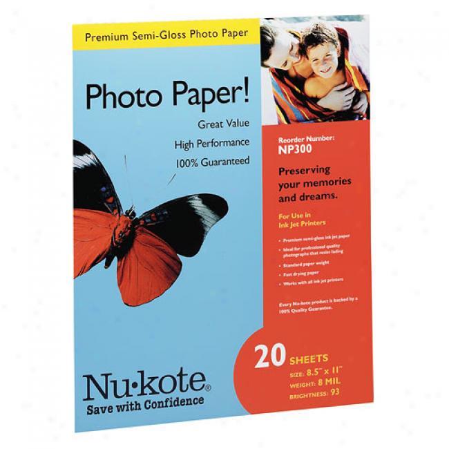 Nu-kote Premium Semi-gloss Photk Paper (8.5