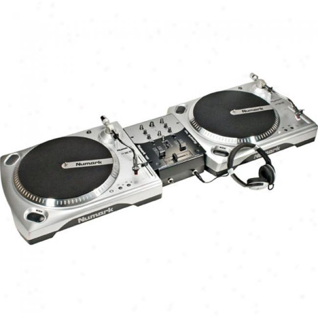 Numark Dj-in-a-box Dual-turntable Package Withh Mixer