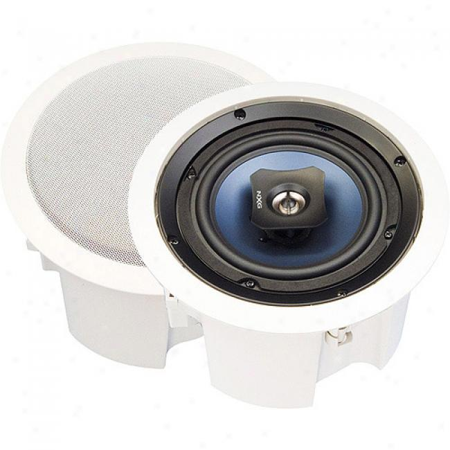 Nxg Basix Series 2-way In-ceiling Enclosed Speaker System - 6-watt,6.5 Inch