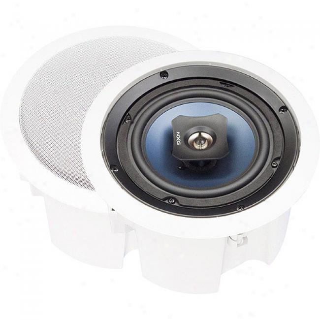 Nxg Basix Series 2-way In-ceiling Enclosed Speaker System - 80-watt, 8-inch